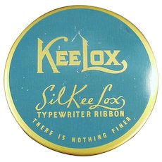 Vintage SilKee Lox KeeLox Typewriter Ribbon Tin