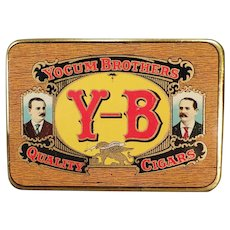 Vintage Yocum Brothers Y-B Quality Cigars Tobacco Tin - Very Nice Condition