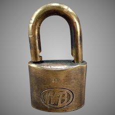Vintage Wilson Bohannan Brass Shackle Padlock – WB #622 Lock