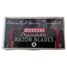Vintage Enderes Razor Blades in Unopened Box