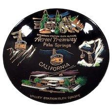 Vintage Palm Springs Aerial Tramway Souvenir Bowl - Old Laquerware