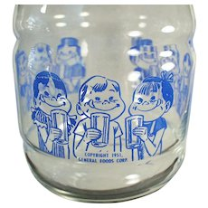 Vintage 1950's Kool-Aid Kids Advertising Carafe - Great for Iced Tea or Lemonade