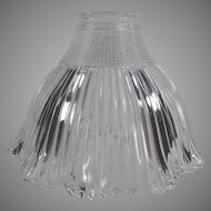 Vintage Light Fixture Shade - Holophane Pagoda Shade - Small Neck Size