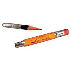 Vintage Advertising Bullet Pencil - Souvenir of Portland Oregon