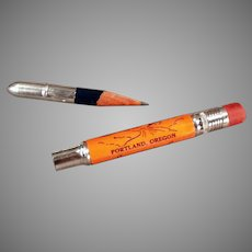 Vintage Advertising Bullet Pencil - Souvenir of Portland Oregon