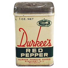 Vintage Durkee's Famous Foods Red Pepper Spice Tin