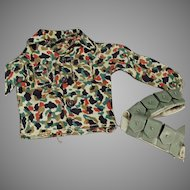 Vintage Doll Clothes - G.I. Joe Camouflage Clothes and Belt Accessory