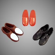 Vintage Doll Accessories - 3 Different Pairs of Shoes for Mattel's Ken Doll
