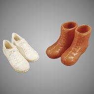Vintage Doll Accessories - 2 Pairs of Shoes for the Athletic Ken Doll