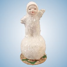 Little Vintage Snow Baby on Tiny Snowball – Made in Germany