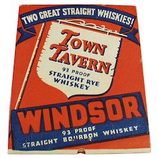 Vintage OverSized Advertising Matchbook - National Distillers Gilbey's Gin