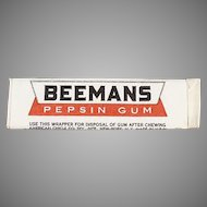 Stick of Vintage Beemans Chewing Gum - Beemans Pepsin - Never Opened