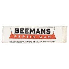 Stick of Vintage Beemans Chewing Gum - Beemans Pepsin - Never Opened