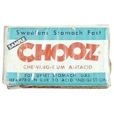 Vintage Chooz Antacid Gum Box - Sample Medicine Box