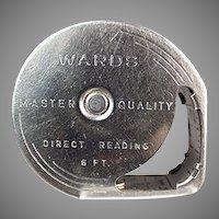 Vintage Wards Direct Reading 6' Steel Tape Measure