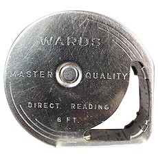 Vintage Wards Direct Reading 6' Steel Tape Measure