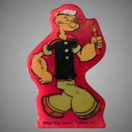 Vintage Catalin Popeye Pencil Sharpener – Red Catalin