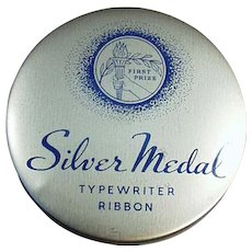 Vintage First Prize Typewriter Ribbon Tin - Stenno Silver Medal
