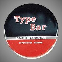 Vintage Type Bar Typewriter Ribbon Tin - Smith Corona