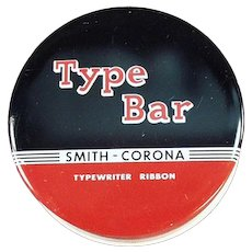 Vintage Type Bar Typewriter Ribbon Tin - Smith Corona