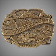 Collectible Morrison Knudsen Locomotive Shop Belt Buckle - MKCo. Limited Edition