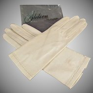 Vintage Leather Gloves - 1940's Ladies Stetson Gloves - Made in Italy
