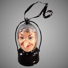 Vintage B.O. Halloween Lantern - Battery Operated Celluloid Witch