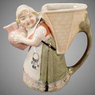 Vintage Schafer & Vater Pitcher - Little Girl with Keys - S&V Germany