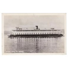 Vintage Ferry M.S. Willapa Photograph Postcard - Seattle, Washington