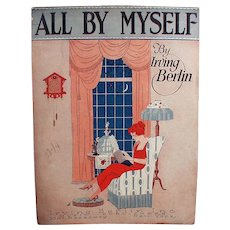 Vintage 1921 Sheet Music - All By Myself by Irving Berlin
