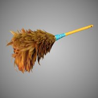 Vintage Feather Duster Made with Beautiful Chicken Feathers