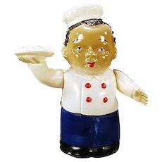 Vintage Wind Up Celluloid Toy - Black Waiter  - Occupied Japan.