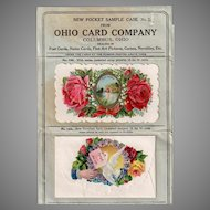Vintage Pocket Sample Case from Ohio Card Company Dealer