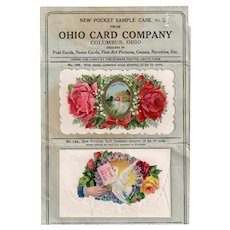 Vintage Pocket Sample Case from Ohio Card Company Dealer