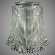 """Vintage, Heavily Ribbed Light Fixture Shade with Large 3 ¼"""" Neck"""
