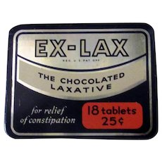 Vintage Ex-Lax Laxative Tin – Old Medical Advertising