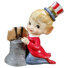 Vintage Fourth of July Pixie Porcelain with Liberty Bell