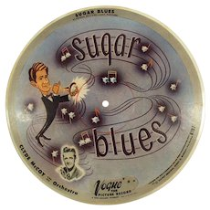 Vintage 78 Vogue Picture Record #R707- Basin Street Blues and Sugar Blues