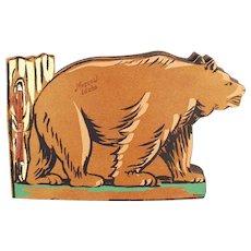 Vintage Moscow Idaho Souvenir Photograph Scrap Book with Bear
