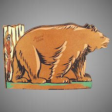 Vintage Moscow Idaho Souvenir Photograph Scrap Book with Bear