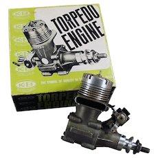 Vintage K & B Torpedo 40RC Front Rotor, Gas Powered Engine & Perry Carburetor