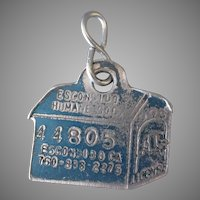Vintage Dog License Tag – Escondido Humane Society Dog House
