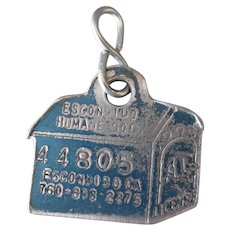 Vintage Dog License Tag – Escondido Humane Society Dog House