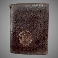 Vintage 1940 Golden Gate International Exposition Leather Wallet Souvenir