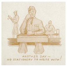 Vintage Ink Blotter - Ritter's Stationery Advertising with Soldier Image