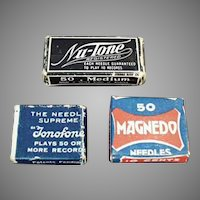 Assorted Vintage Steel Phonograph Needles - Three Little Boxes