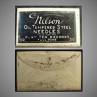 Vintage Nelson Steel Phonograph Needles - Nelson 50 Unopened Package