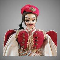 Vintage Greek Doll - Little Plastic Doll in Traditional Greek Costume