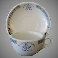 Vintage Masonic Restaurant China – Damascus #10 Masonic Lodge Cup & Saucer