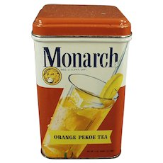 Vintage Reid Murdoch Monarch Tea Tin with Colorful Graphics